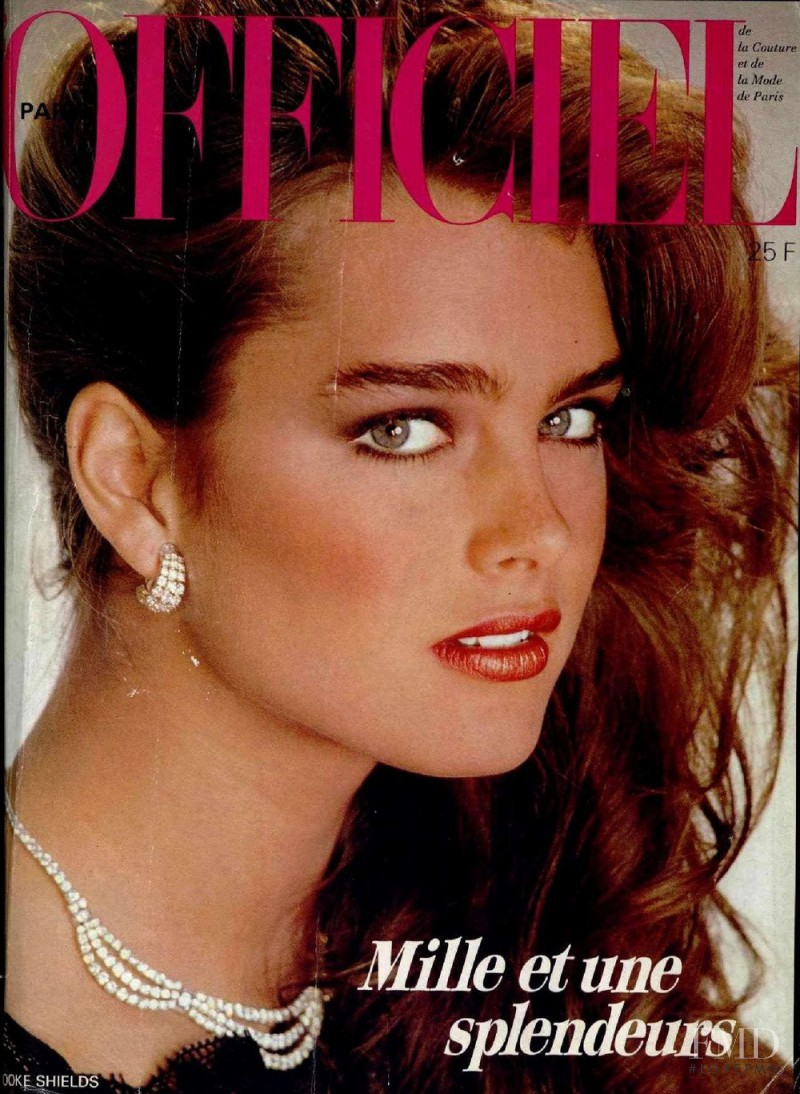 Brooke Shields featured on the L\'Officiel France cover from December 1981