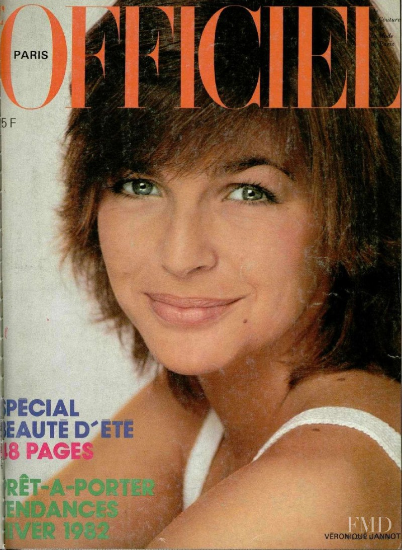 Véroniqué Jannot featured on the L\'Officiel France cover from June 1981