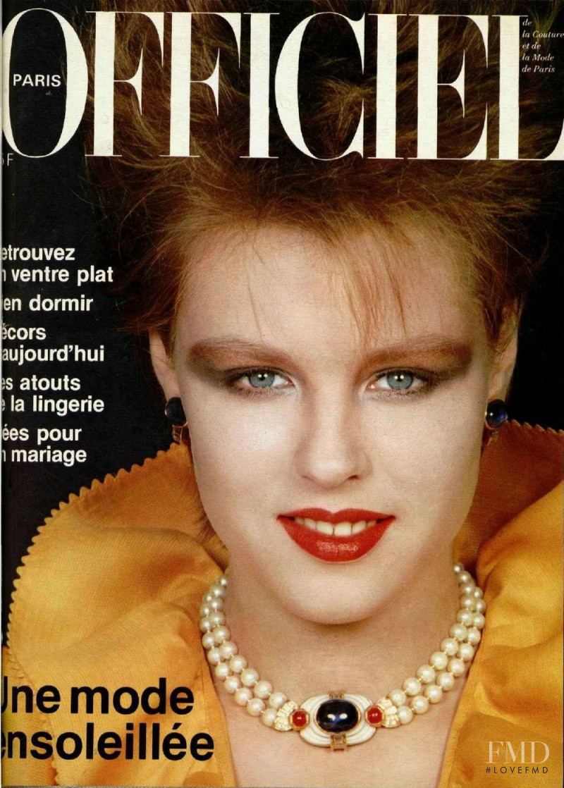 featured on the L\'Officiel France cover from April 1982