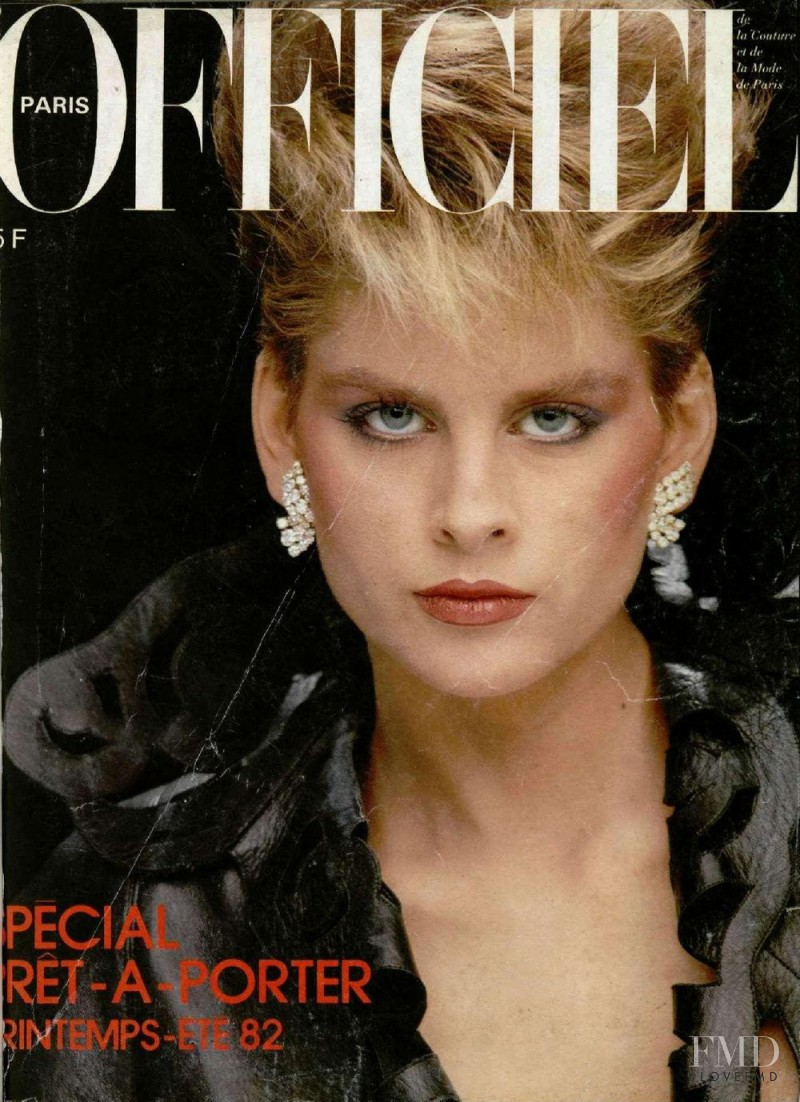 featured on the L\'Officiel France cover from February 1982