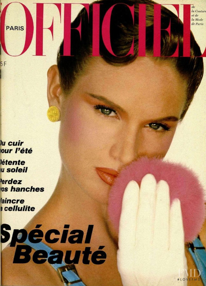 featured on the L\'Officiel France cover from May 1982