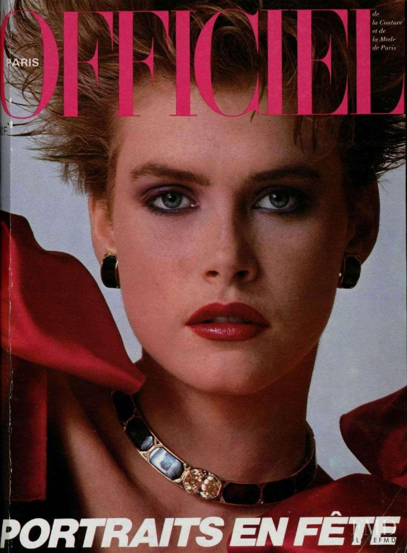 featured on the L\'Officiel France cover from December 1983