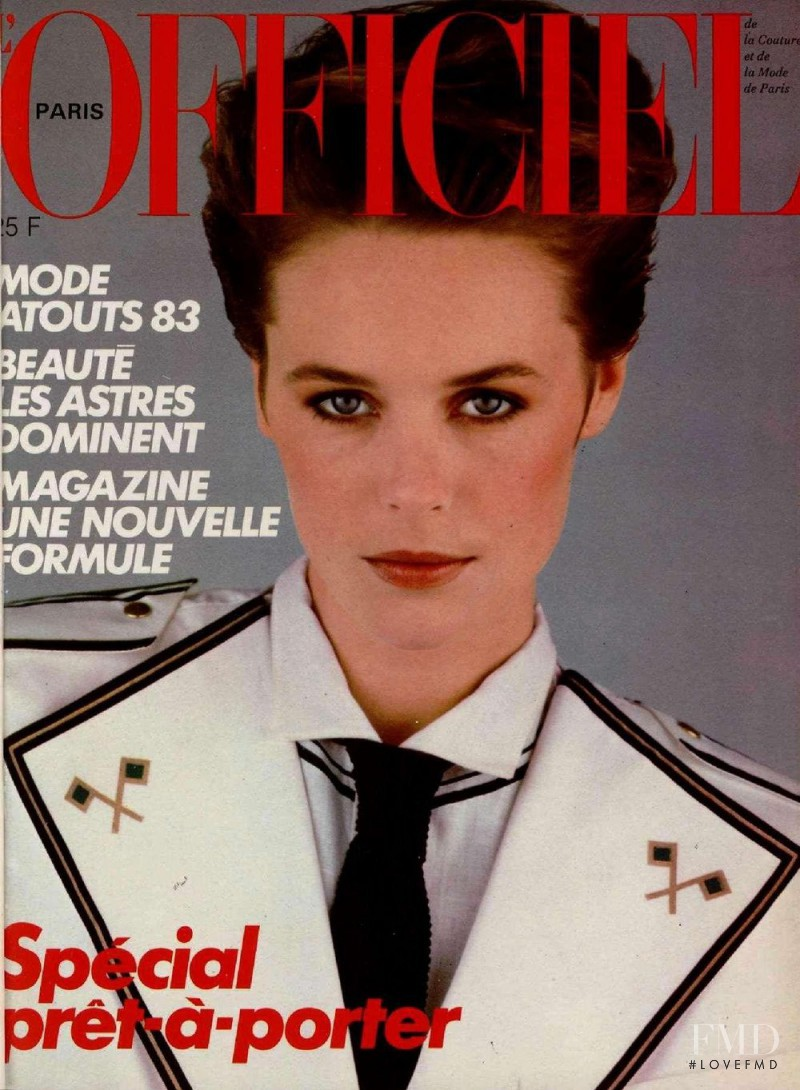 featured on the L\'Officiel France cover from February 1983