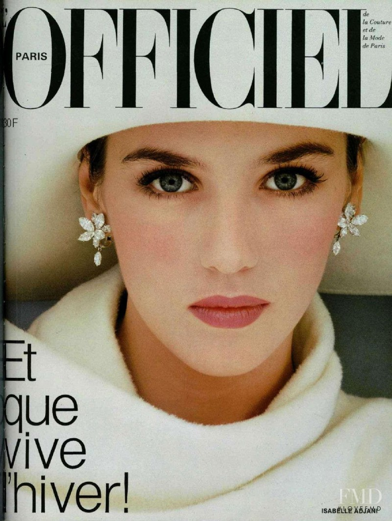 Isabelle Adjani featured on the L\'Officiel France cover from November 1983