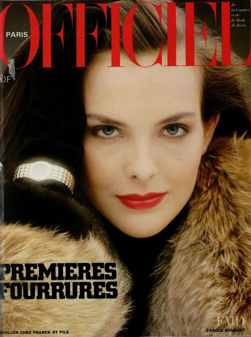 Carole Bouquet featured on the L\'Officiel France cover from October 1983