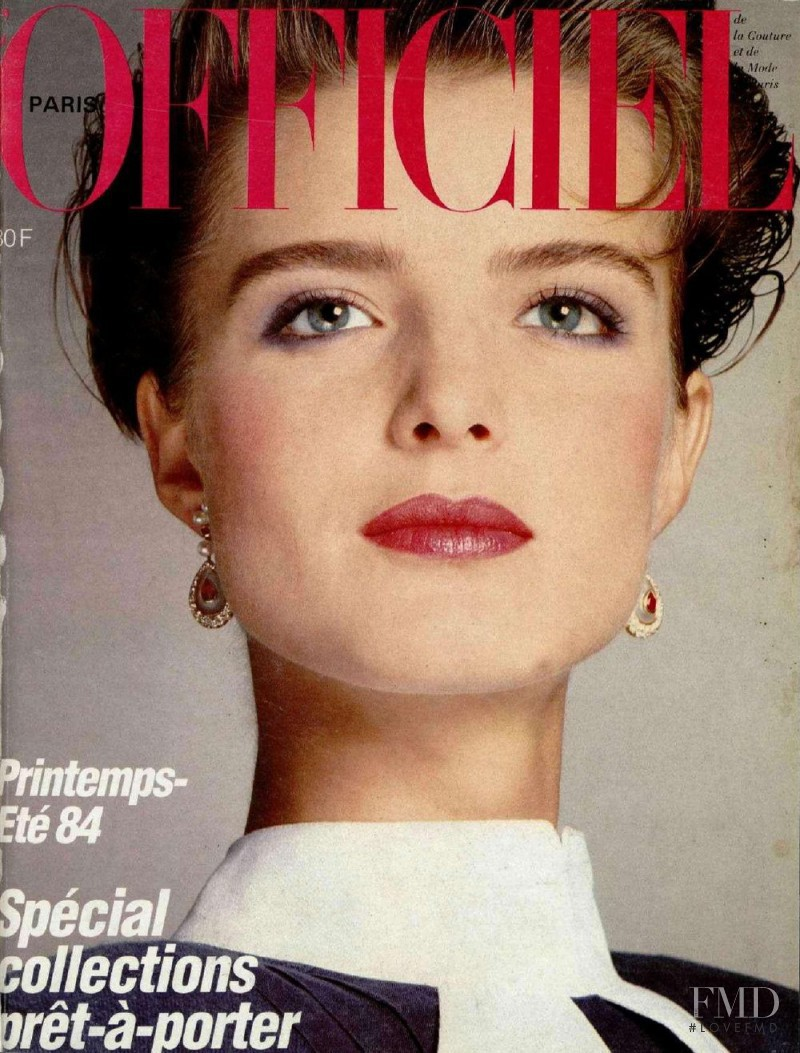 featured on the L\'Officiel France cover from February 1984