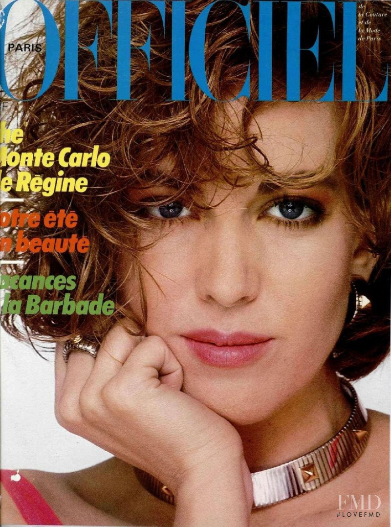 featured on the L\'Officiel France cover from June 1984