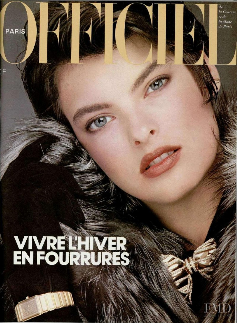Linda Evangelista featured on the L\'Officiel France cover from November 1984