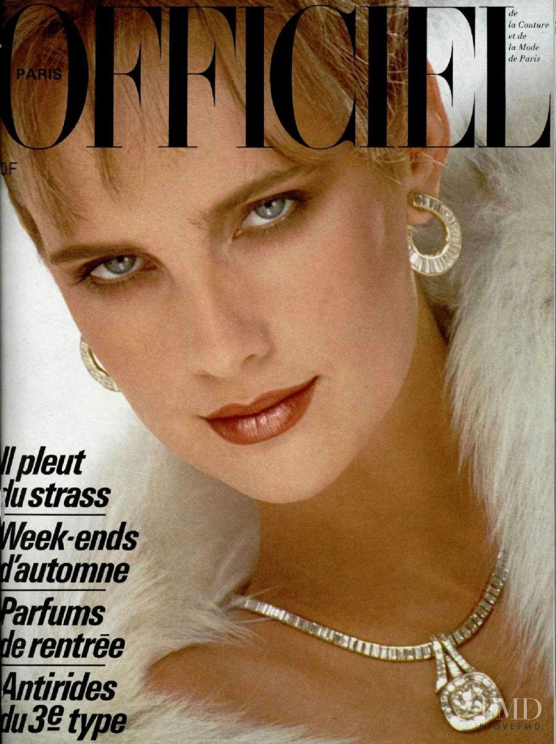 featured on the L\'Officiel France cover from October 1984