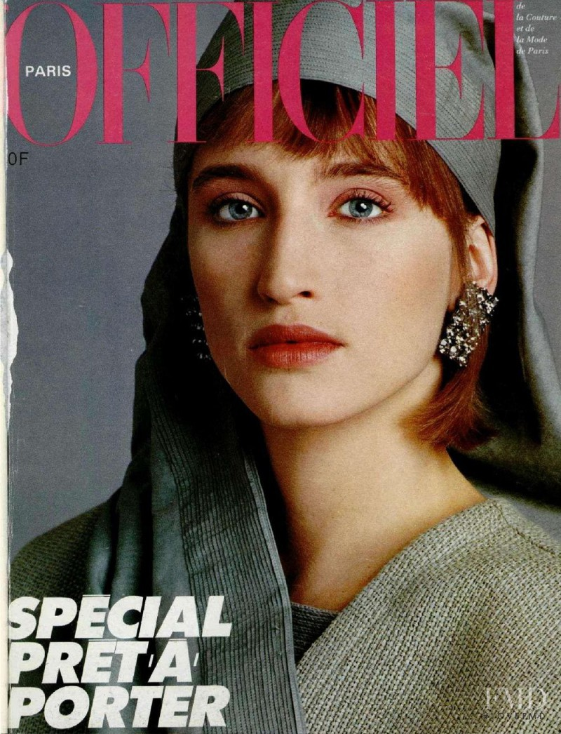 featured on the L\'Officiel France cover from February 1985