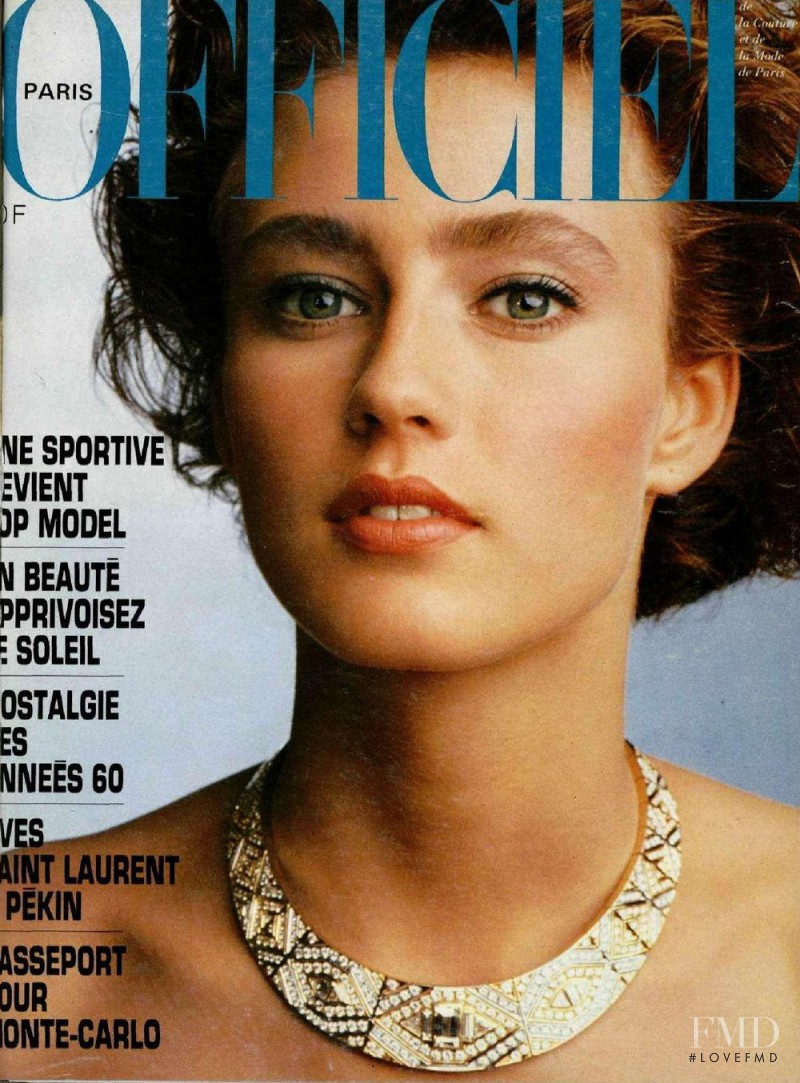featured on the L\'Officiel France cover from June 1985