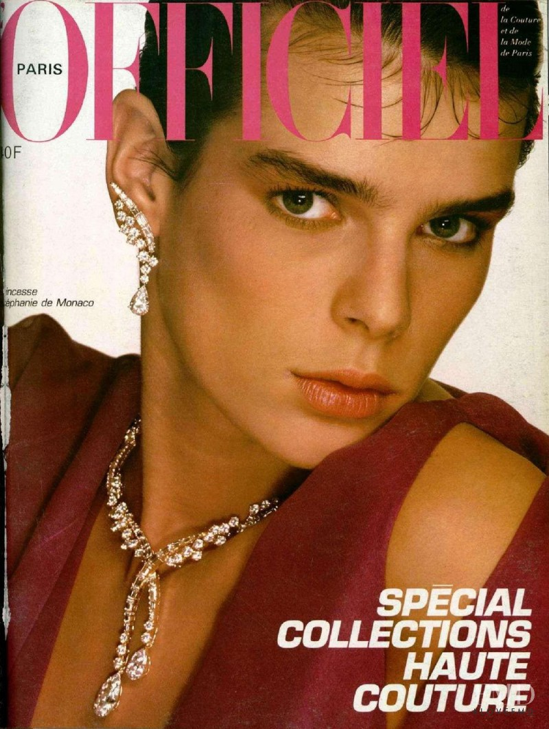 Stephanie De Monaco featured on the L\'Officiel France cover from March 1985