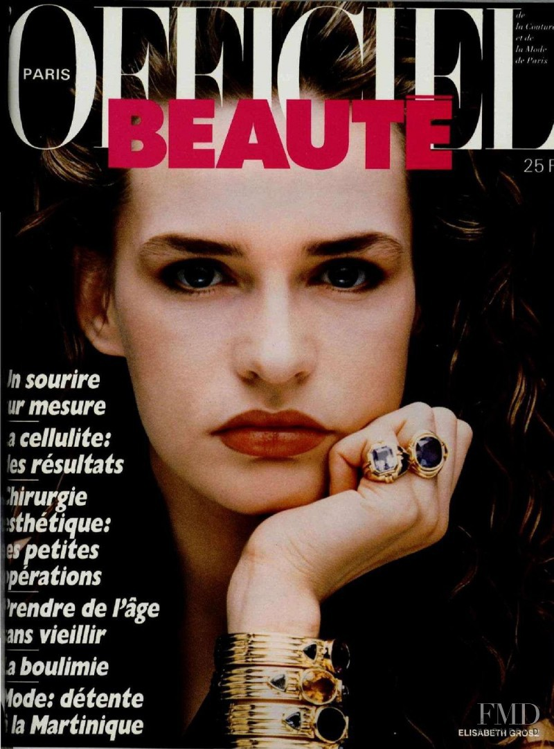 Elisabeth Grosz featured on the L\'Officiel France cover from May 1986
