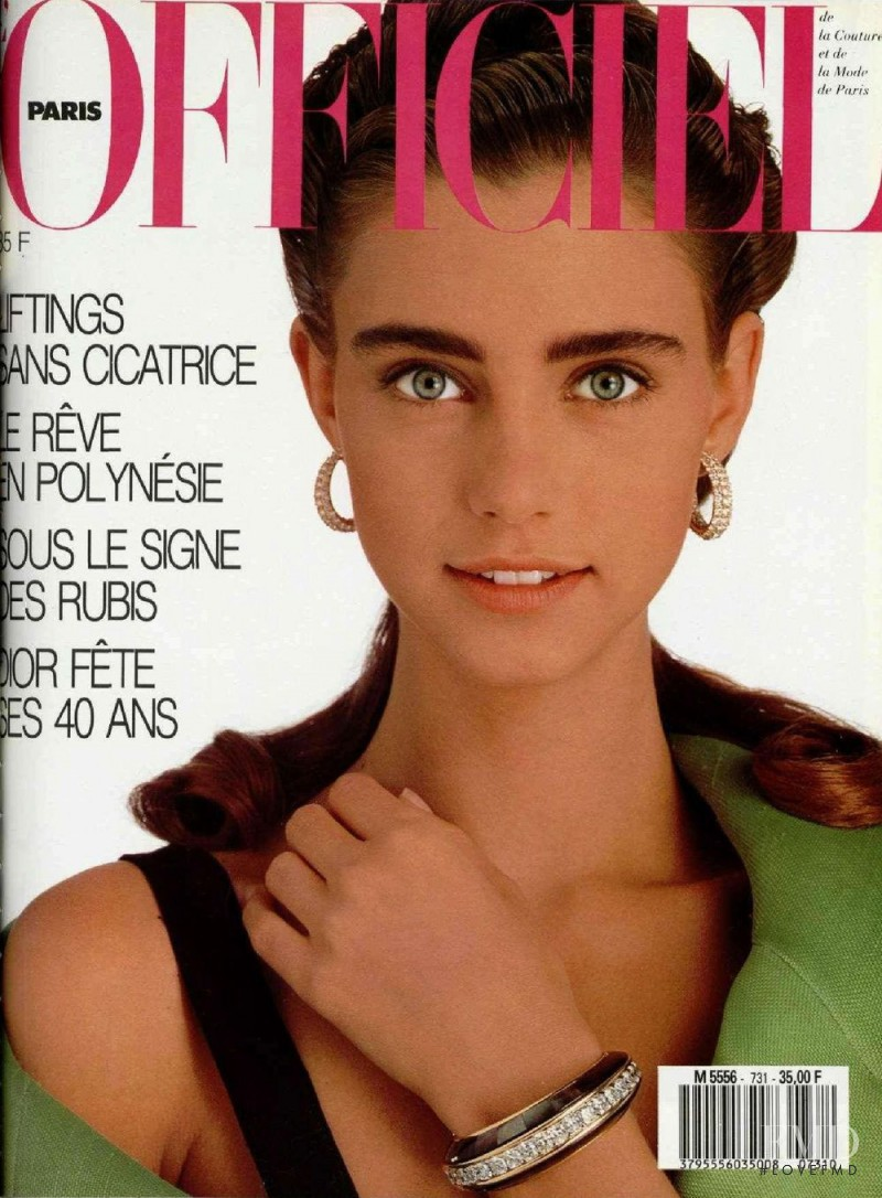 Roberta Chirko featured on the L\'Officiel France cover from April 1987