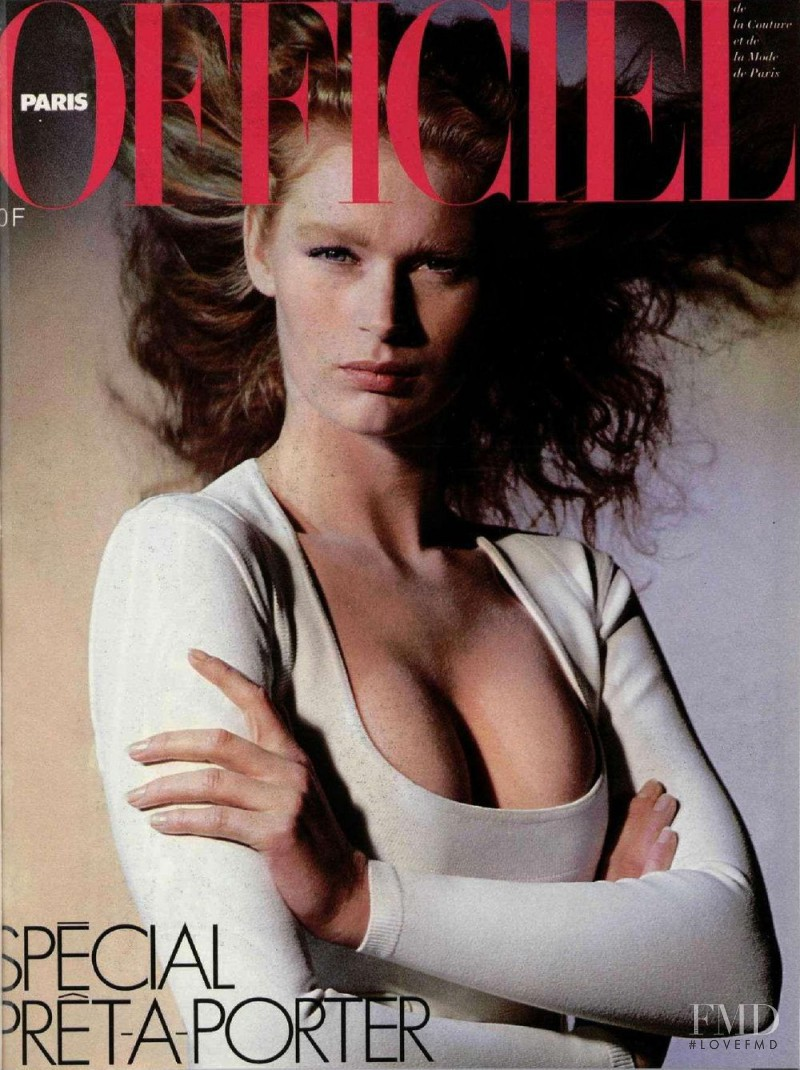 featured on the L\'Officiel France cover from February 1987
