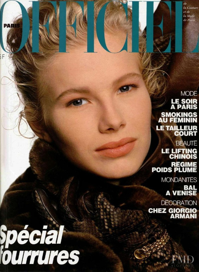 featured on the L\'Officiel France cover from September 1987