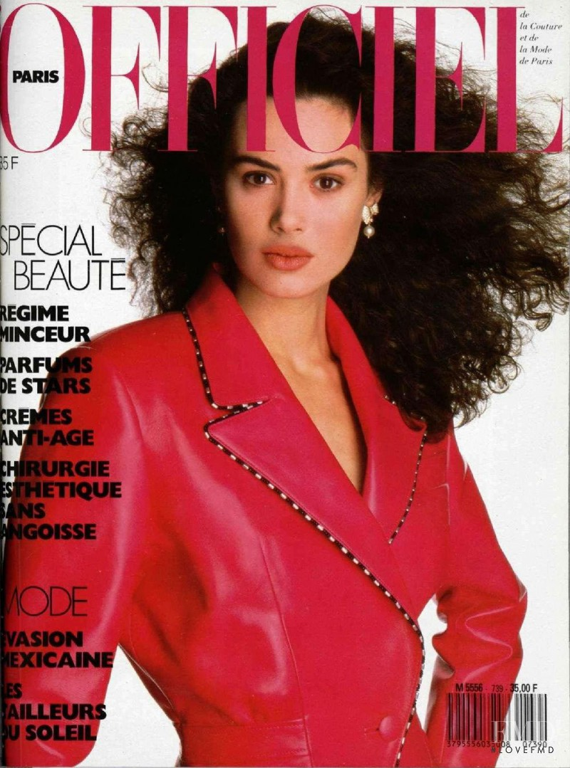 featured on the L\'Officiel France cover from April 1988