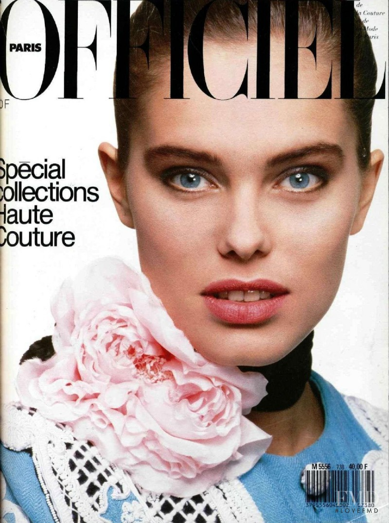 Renee Simonsen featured on the L\'Officiel France cover from March 1988