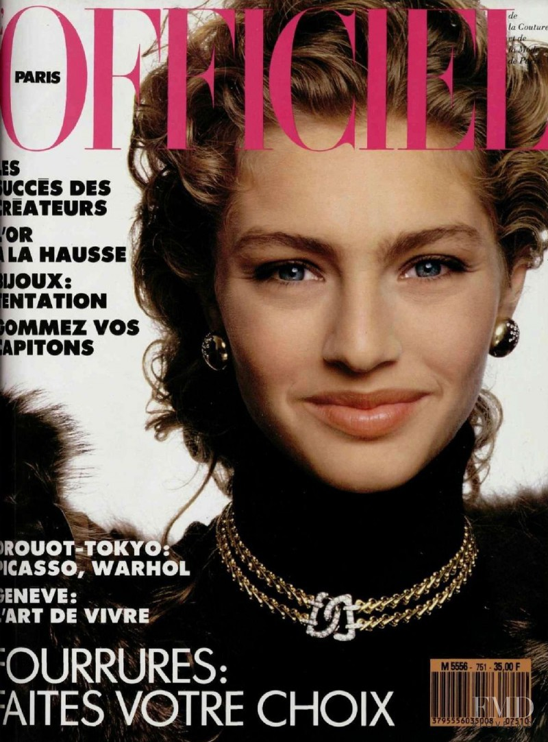 Michaela Bercu featured on the L\'Officiel France cover from September 1989