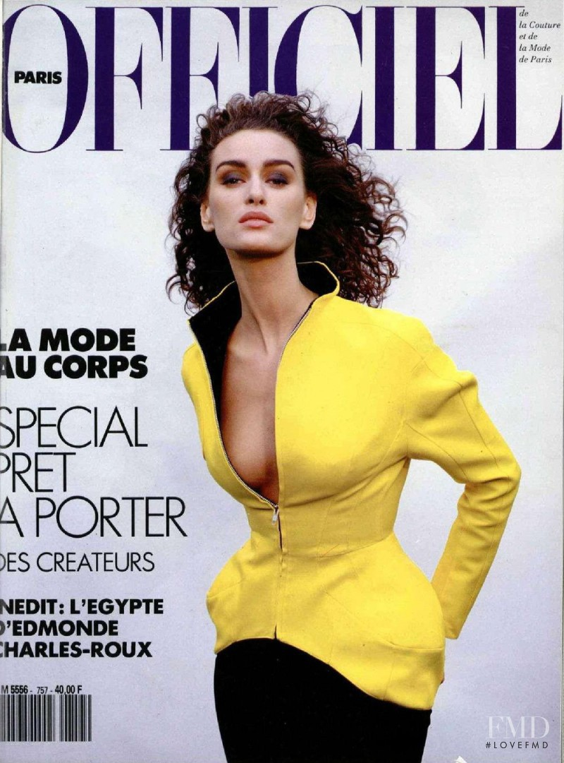 featured on the L\'Officiel France cover from June 1990