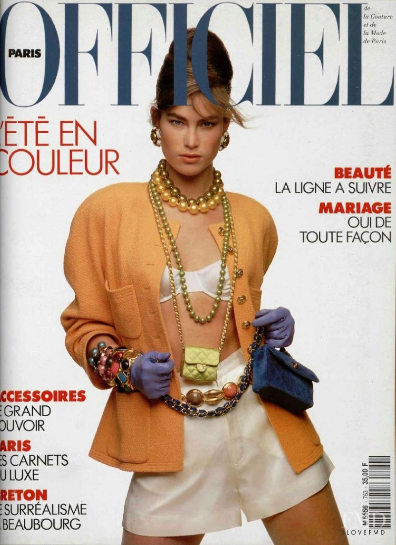 Meghan Douglas featured on the L\'Officiel France cover from April 1991