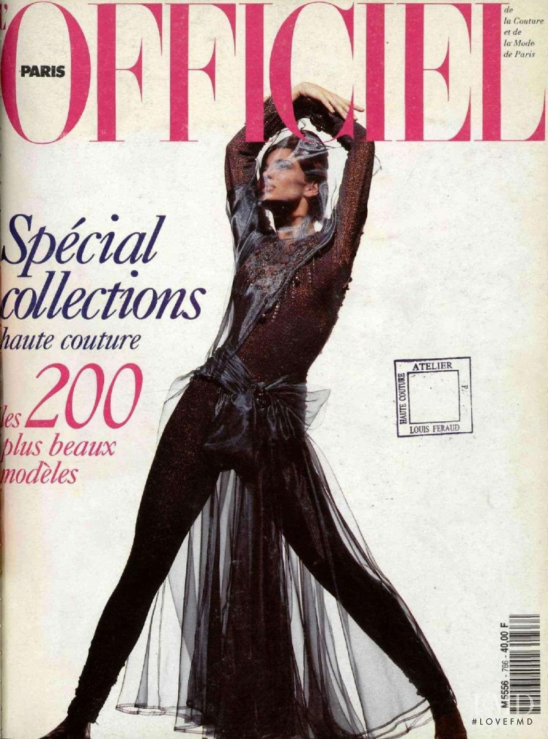 featured on the L\'Officiel France cover from August 1991