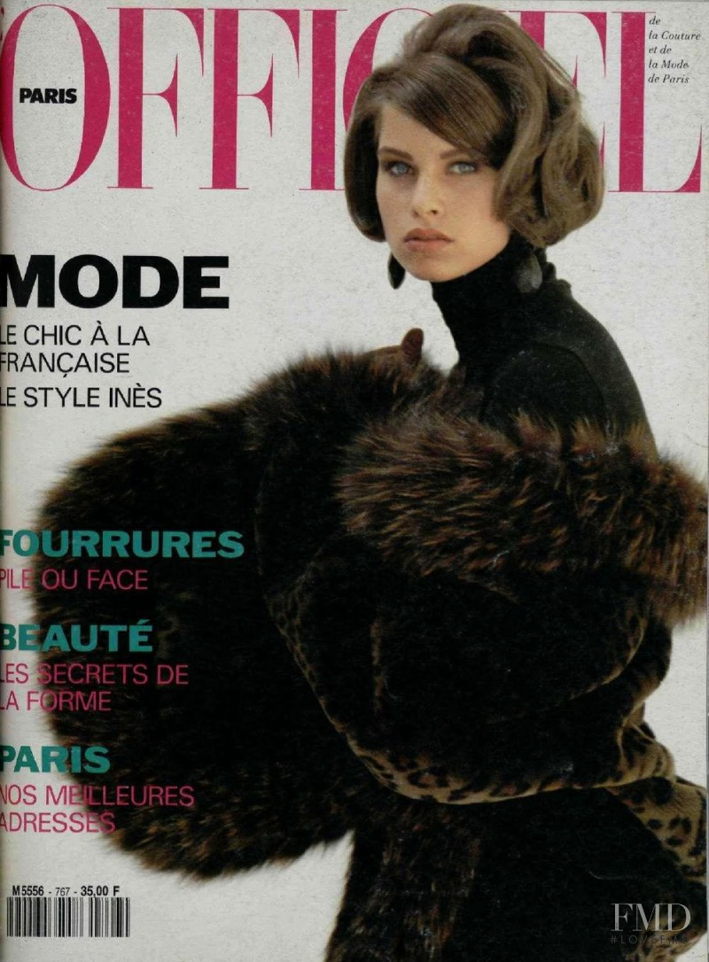 featured on the L\'Officiel France cover from September 1991