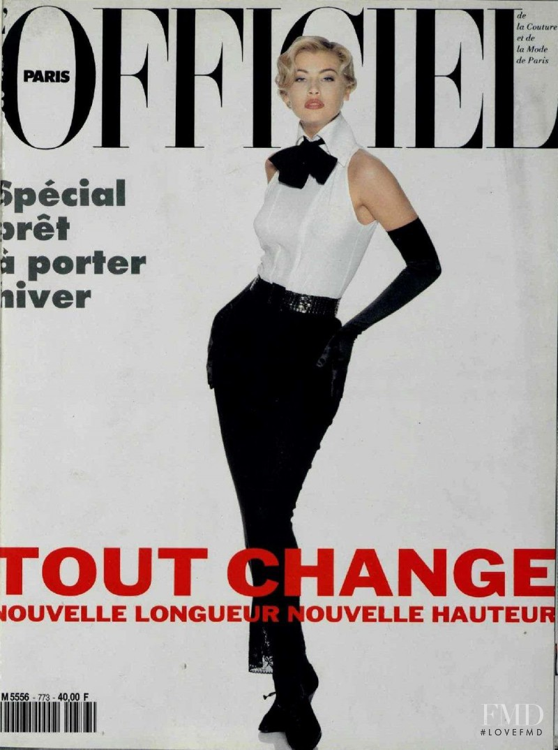 featured on the L\'Officiel France cover from June 1992