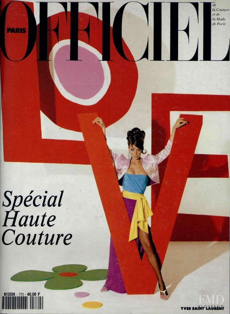 Angelika Kallio featured on the L\'Officiel France cover from March 1992