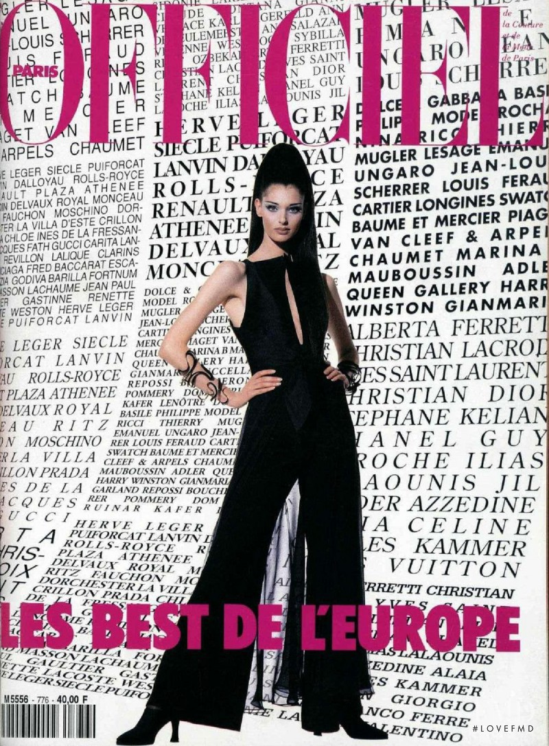 Annelyse Schoenberger featured on the L\'Officiel France cover from October 1992