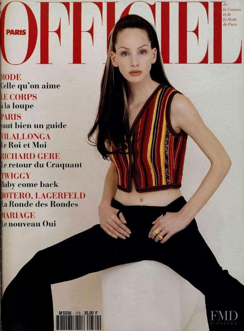 featured on the L\'Officiel France cover from April 1993