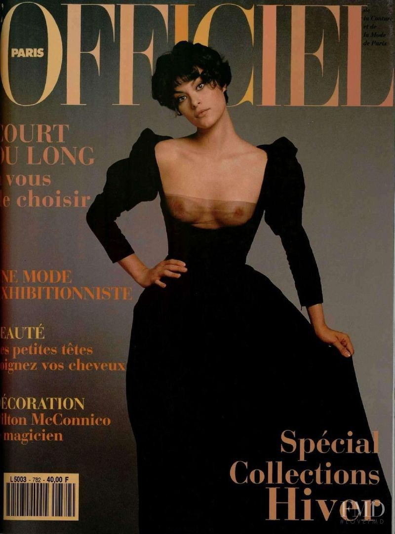 featured on the L\'Officiel France cover from August 1993