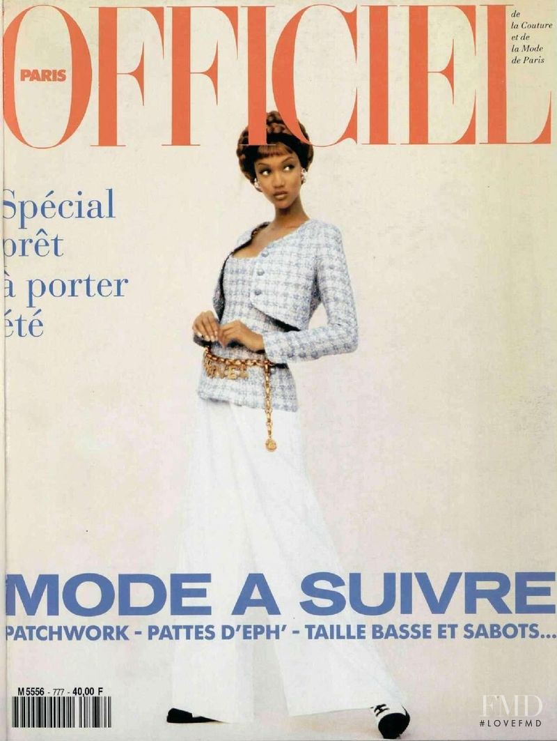 featured on the L\'Officiel France cover from February 1993
