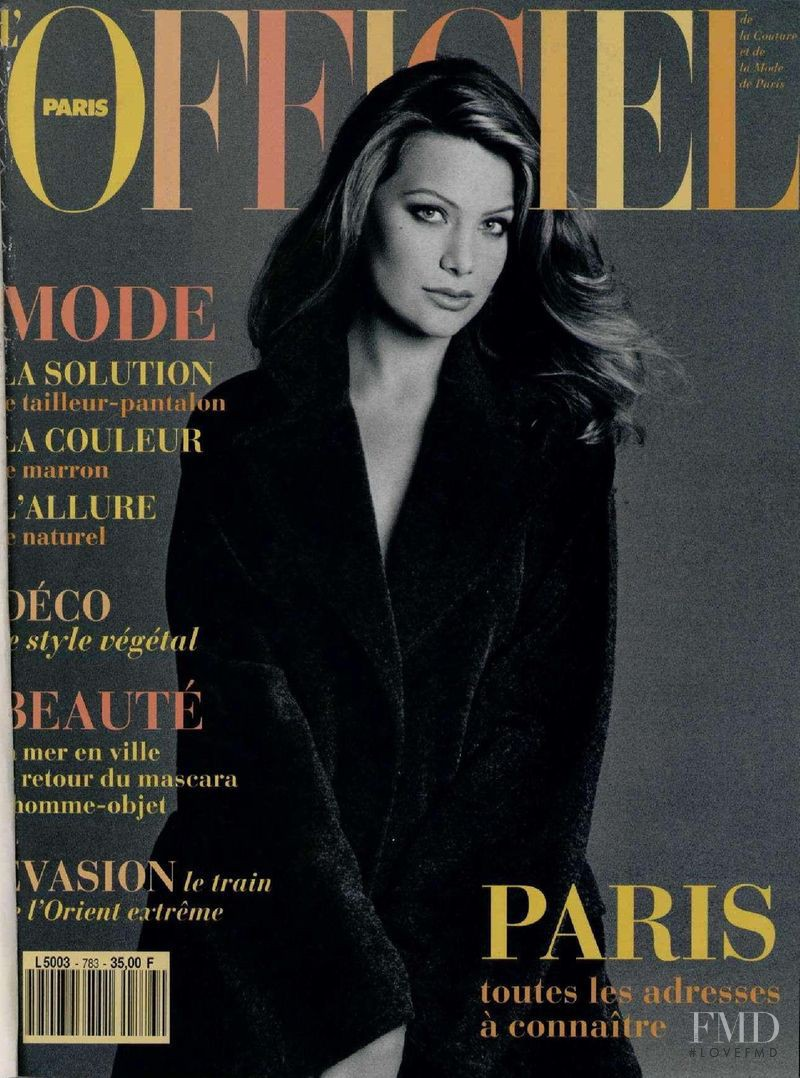 featured on the L\'Officiel France cover from September 1993