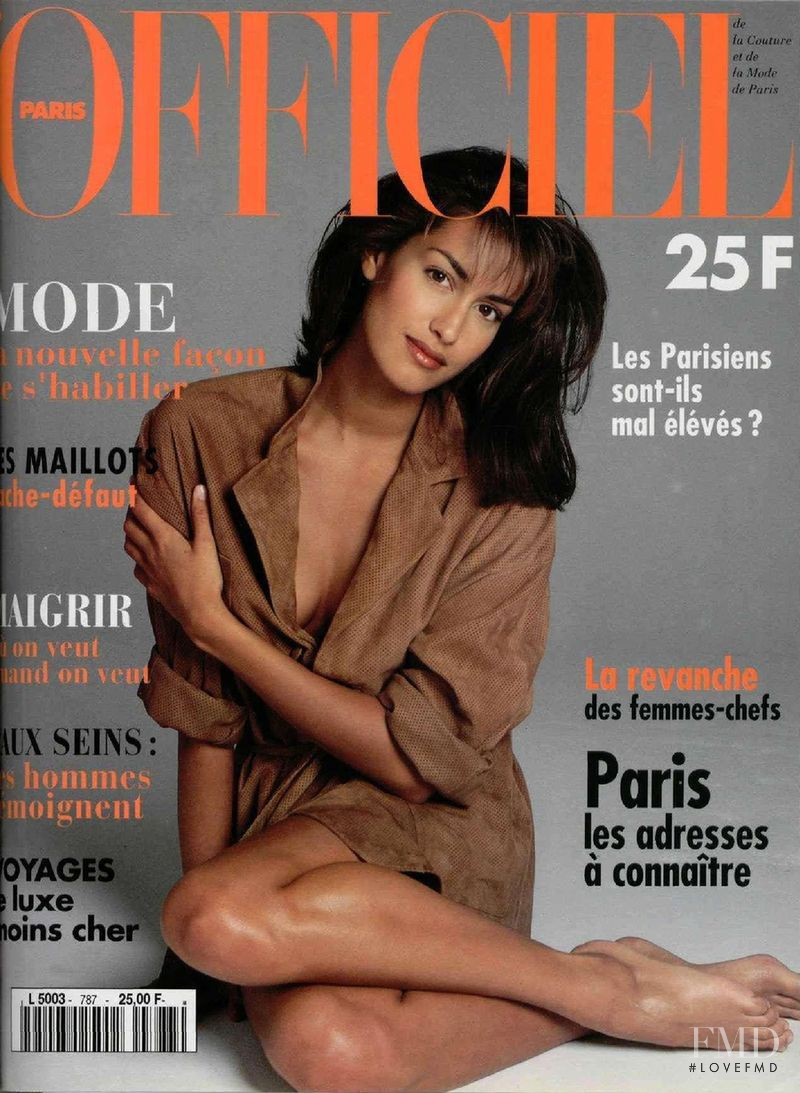 featured on the L\'Officiel France cover from April 1994