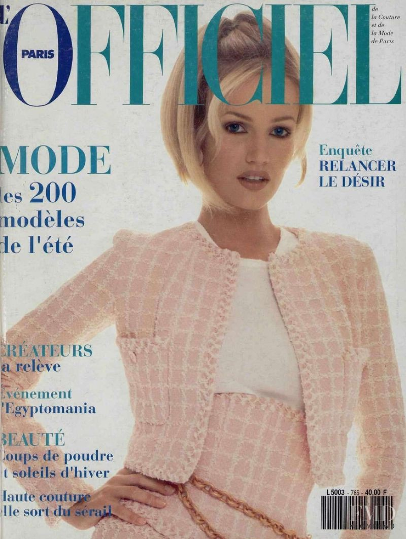 featured on the L\'Officiel France cover from February 1994