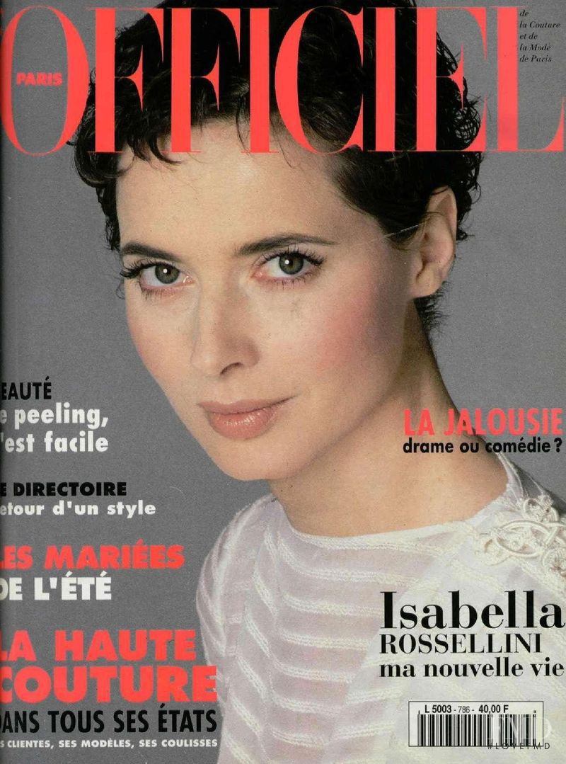 featured on the L\'Officiel France cover from March 1994