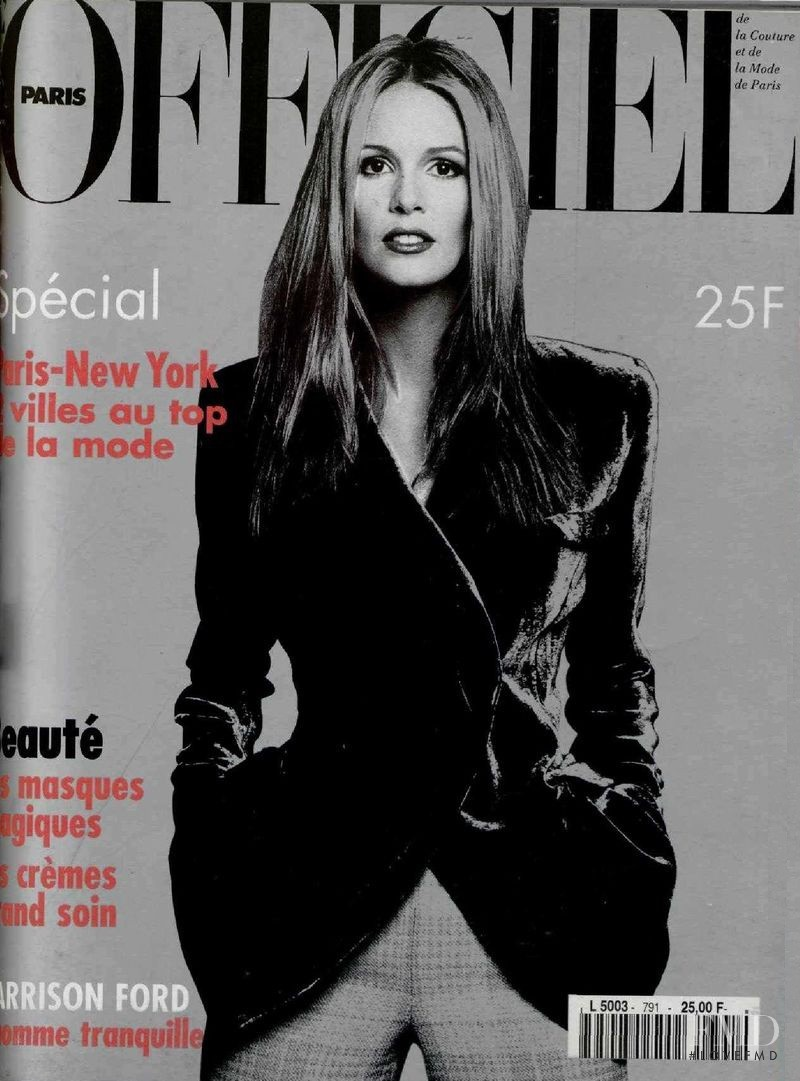 featured on the L\'Officiel France cover from September 1994