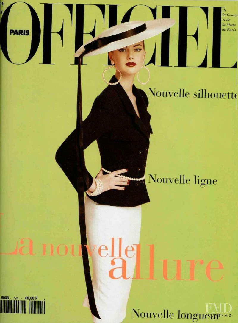 featured on the L\'Officiel France cover from March 1995