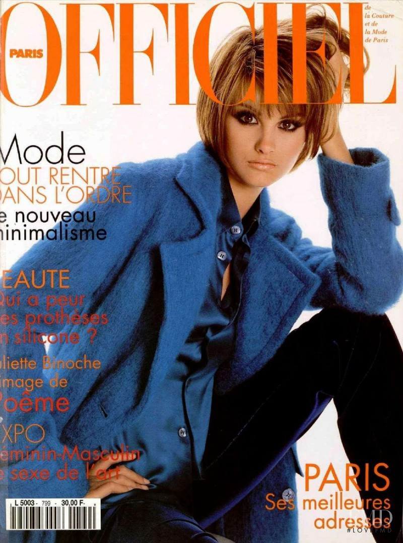 featured on the L\'Officiel France cover from September 1995