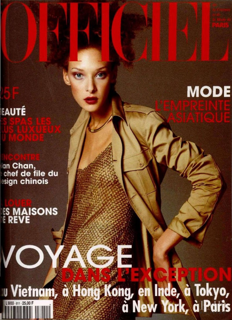 featured on the L\'Officiel France cover from December 1996