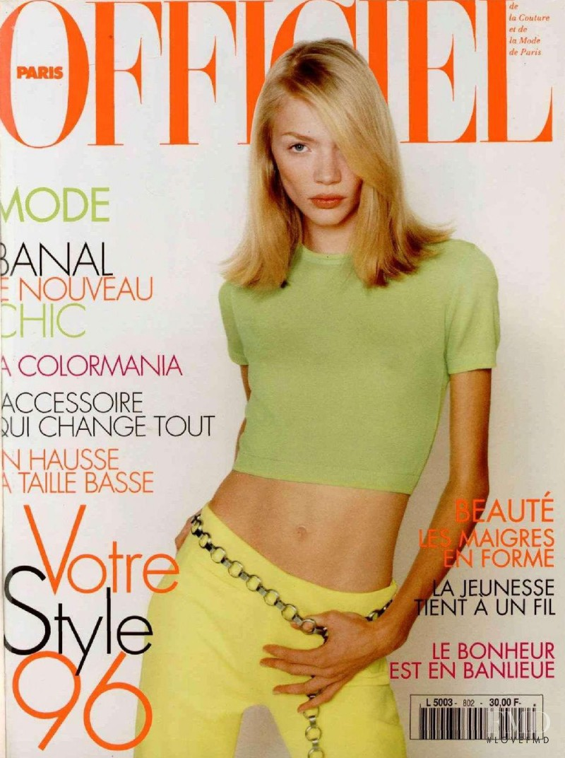 featured on the L\'Officiel France cover from February 1996