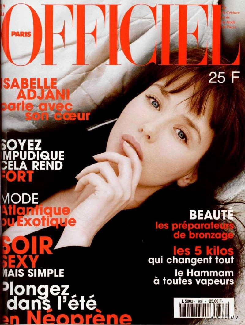 featured on the L\'Officiel France cover from June 1996