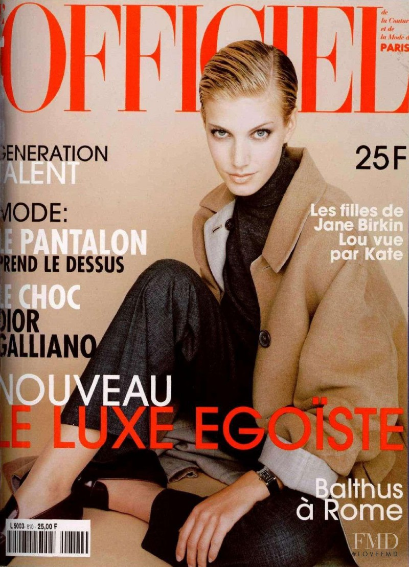 featured on the L\'Officiel France cover from November 1996