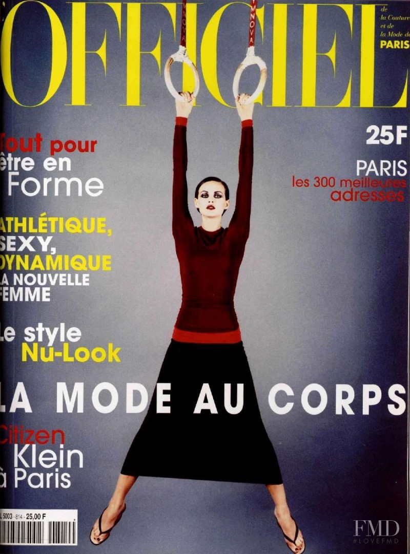 featured on the L\'Officiel France cover from April 1997