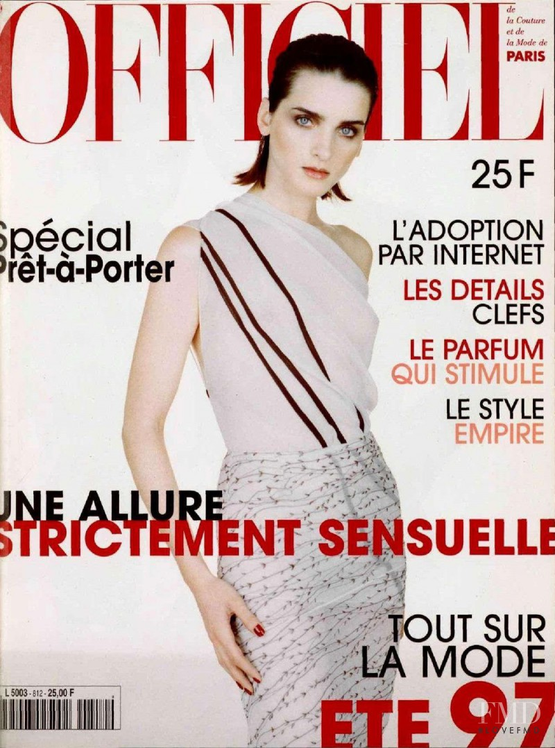 featured on the L\'Officiel France cover from February 1997