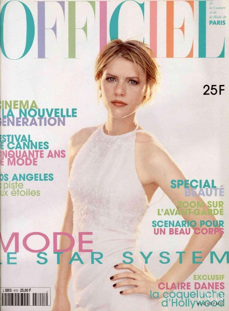 Claire Danes featured on the L\'Officiel France cover from May 1997