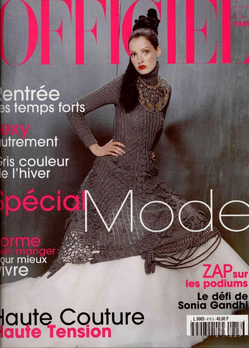 featured on the L\'Officiel France cover from September 1997