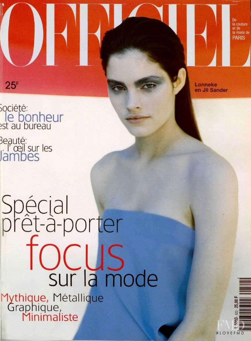 Lonneke Engel featured on the L\'Officiel France cover from February 1998