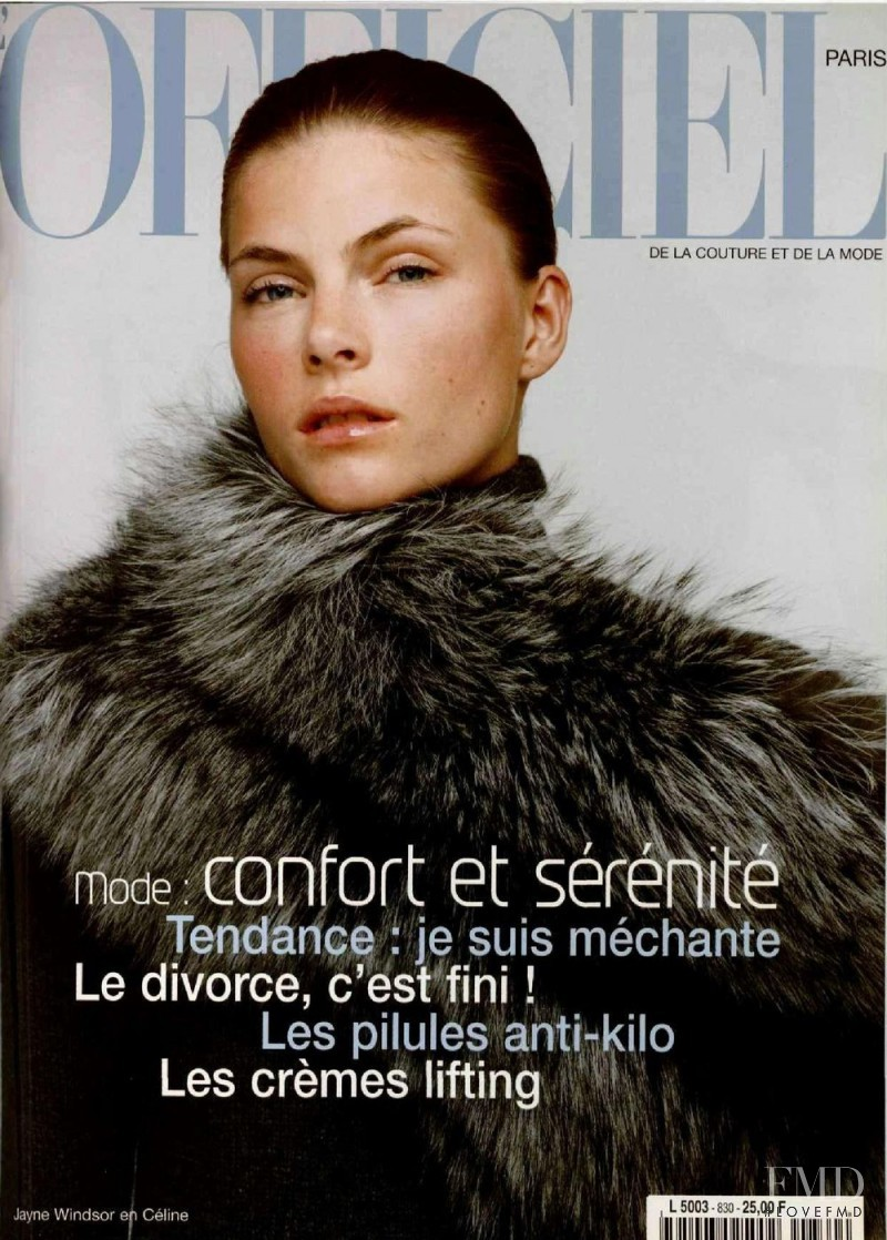 Jayne Windsor featured on the L\'Officiel France cover from November 1998